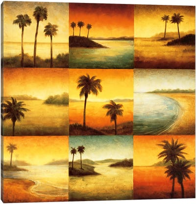 Palm Perspectives Canvas Art Print