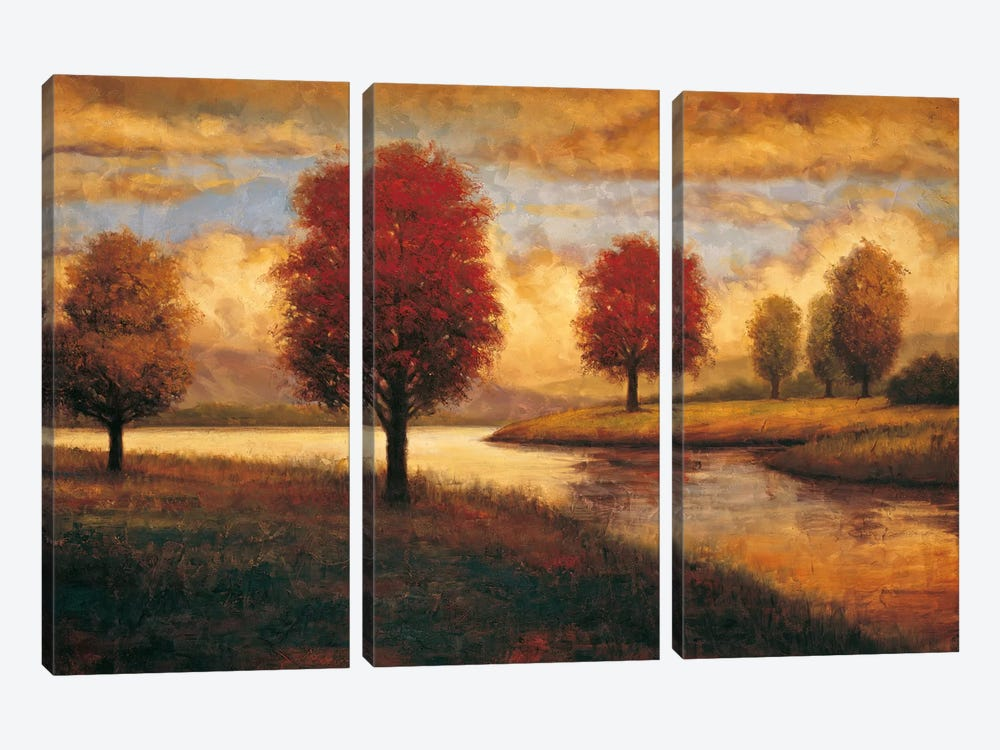 Serene I by Gregory Williams 3-piece Canvas Artwork