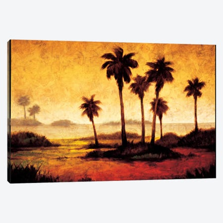 Sunset Palms I Canvas Print #GWI49} by Gregory Williams Canvas Art