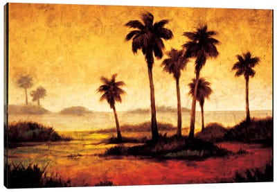Sunset Palms I Canvas Art Print
