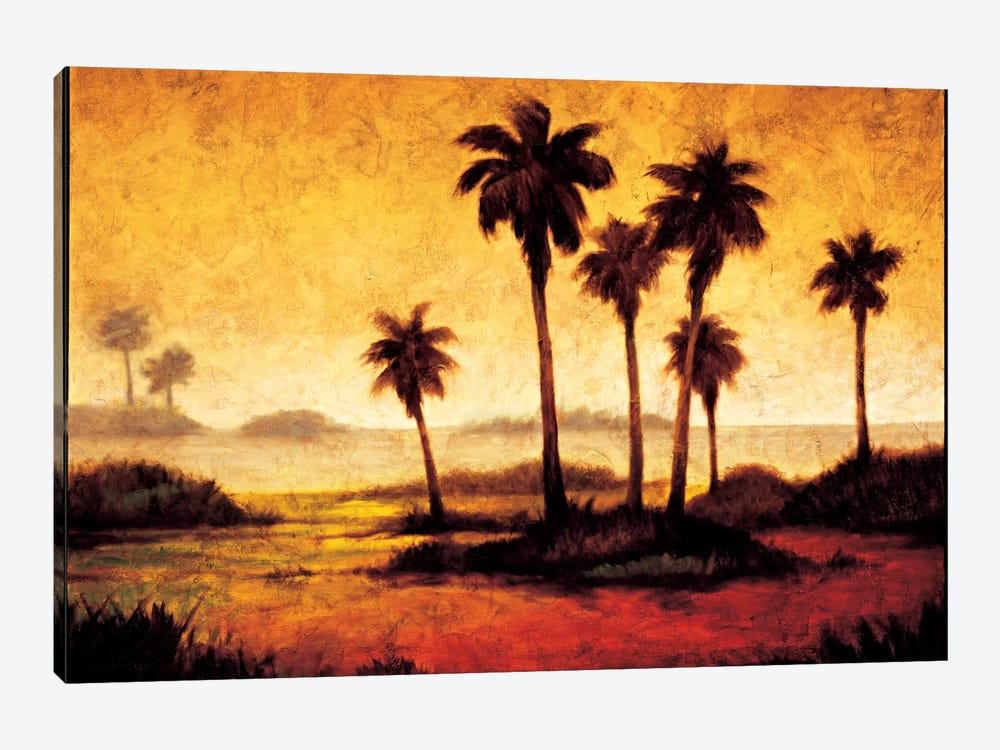 Sunset Palms I by Gregory Williams 1-piece Canvas Artwork