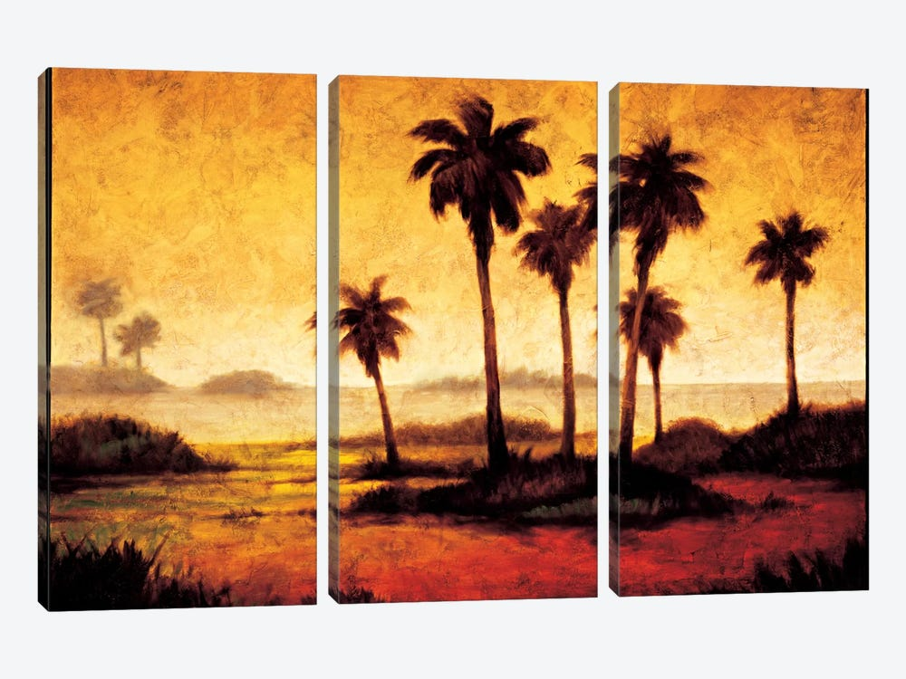 Sunset Palms I by Gregory Williams 3-piece Canvas Wall Art