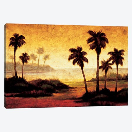 Sunset Palms II Canvas Print #GWI50} by Gregory Williams Canvas Art Print
