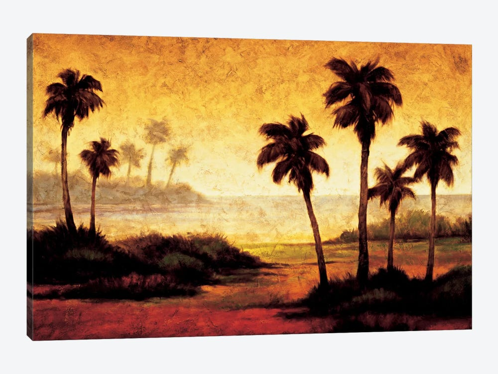 Sunset Palms II by Gregory Williams 1-piece Canvas Wall Art