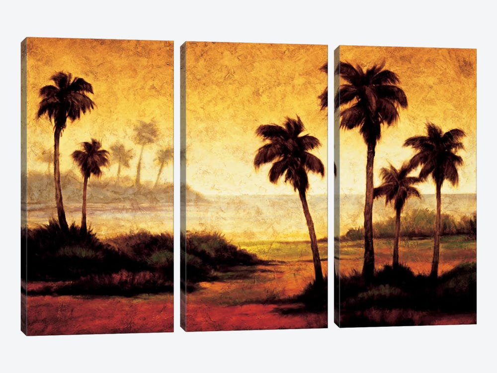 Sunset Palms II by Gregory Williams 3-piece Canvas Art