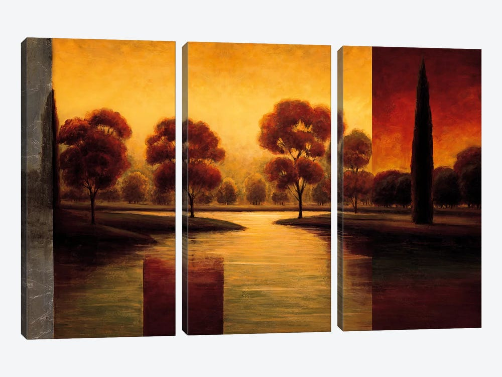The Break Of Dawn II by Gregory Williams 3-piece Canvas Art