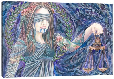 Justice Canvas Art Print