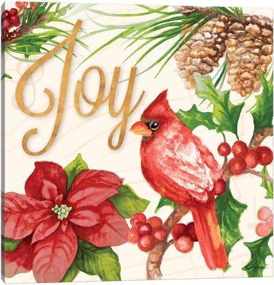 Bright Christmas Cardinal III Canvas Art Print