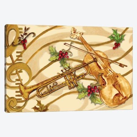 Christmas Music I Canvas Print #GYN11} by Janice Gaynor Canvas Art Print