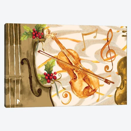 Christmas Music II Canvas Print #GYN12} by Janice Gaynor Canvas Print