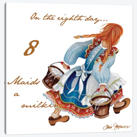 Eight Maids a-Milking Canvas Print #GYN13} by Janice Gaynor Canvas Print