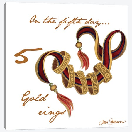Five Golden Rings Canvas Print #GYN15} by Janice Gaynor Canvas Artwork
