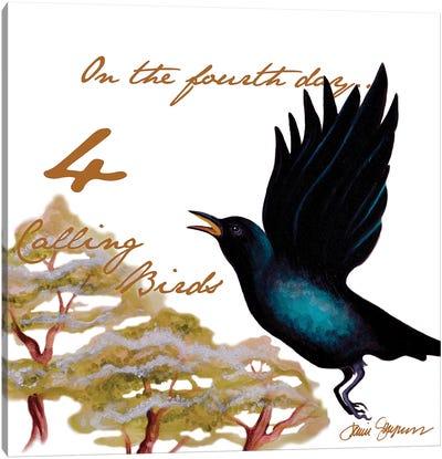 Four Calling Birds Canvas Art Print