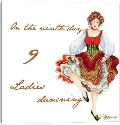 Nine Ladies Dancing Canvas Art Print