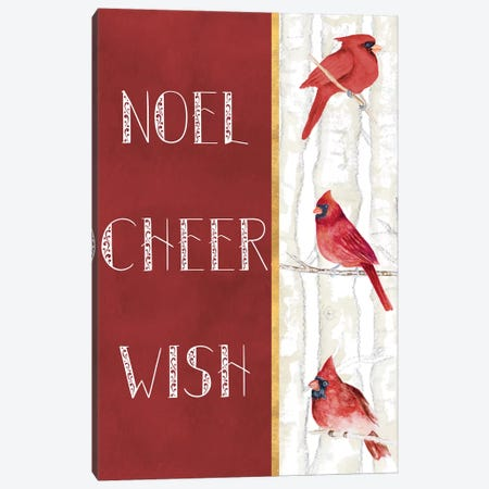 Noel Cheer Wish 3-Piece Canvas #GYN18} by Janice Gaynor Canvas Art Print