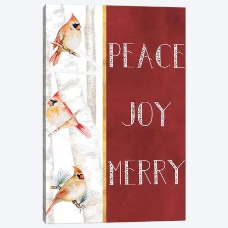 Peace Joy Merry 3-Piece Canvas #GYN20} by Janice Gaynor Canvas Artwork