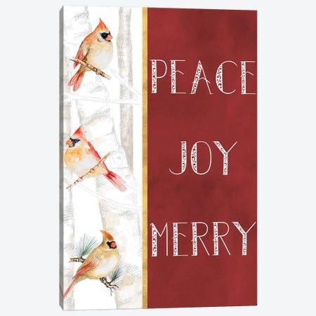 Peace Joy Merry Canvas Print #GYN20} by Janice Gaynor Canvas Artwork