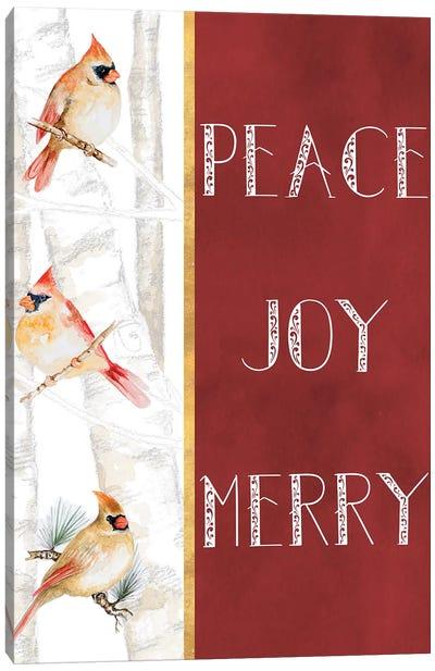 Peace Joy Merry Canvas Art Print