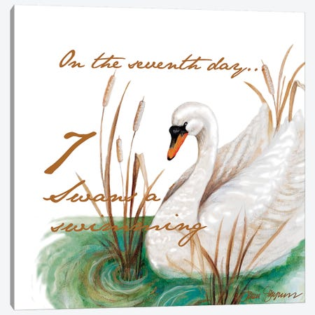 Seven Swans a-Swimming 3-Piece Canvas #GYN21} by Janice Gaynor Canvas Artwork