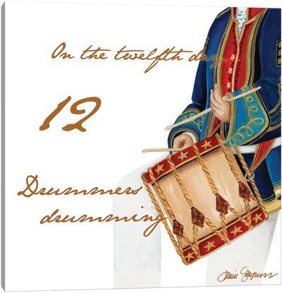 Twelve Drummers Drumming Canvas Art Print