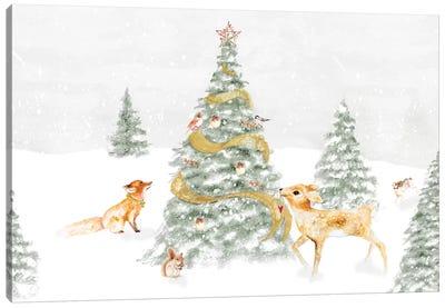 Woodland Christmas I Canvas Art Print