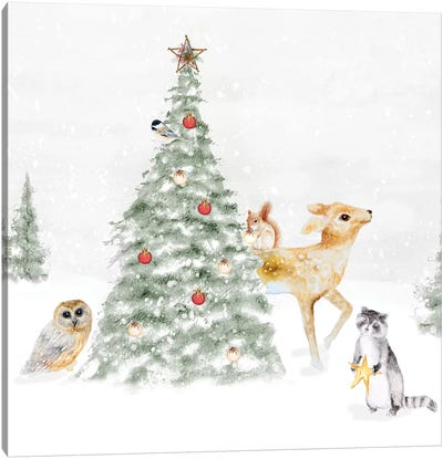 Woodland Christmas II Canvas Art Print