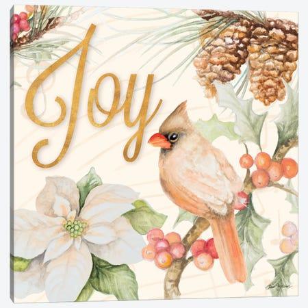 Christmas Cardinal III Canvas Print #GYN31} by Janice Gaynor Art Print