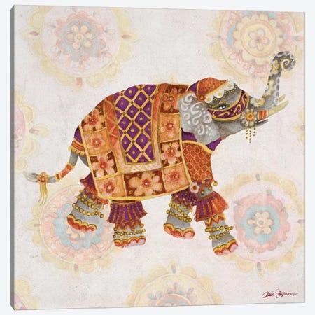 Elephant On Pink I 3-Piece Canvas #GYN33} by Janice Gaynor Canvas Print