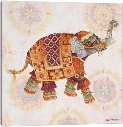 Elephant On Pink I Canvas Art Print