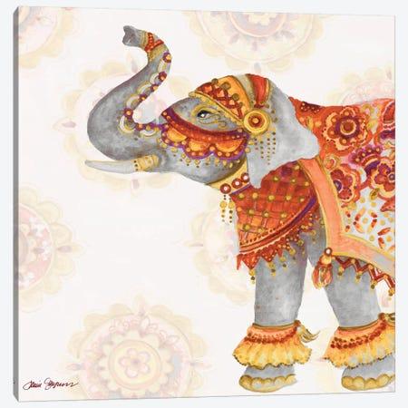 Elephant On Pink II Canvas Print #GYN34} by Janice Gaynor Canvas Art
