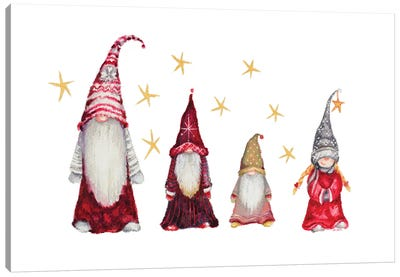 Gnome Family Canvas Art Print