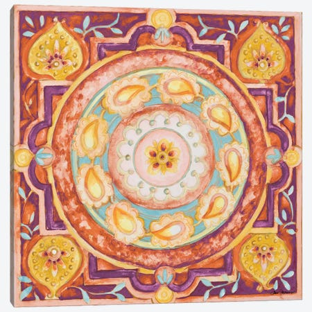 Pink Medallion I Canvas Print #GYN36} by Janice Gaynor Canvas Wall Art