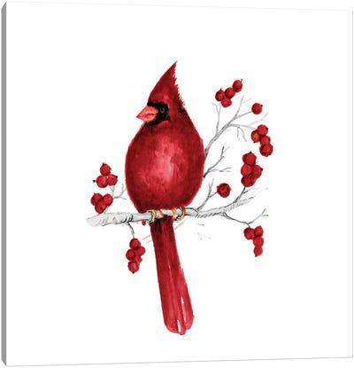 Winter Cardinal In Red II Canvas Art Print