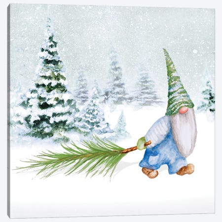 Gnomes on Winter Holiday I Canvas Print #GYN43} by Janice Gaynor Canvas Artwork