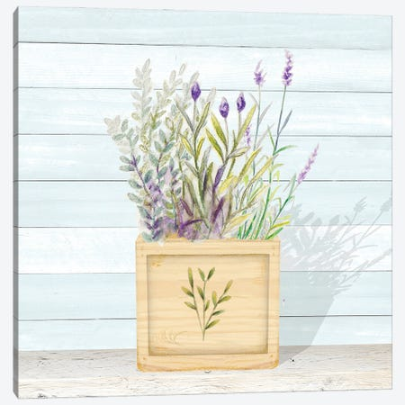 Lavender and Wood Square IV Canvas Print #GYN50} by Janice Gaynor Art Print