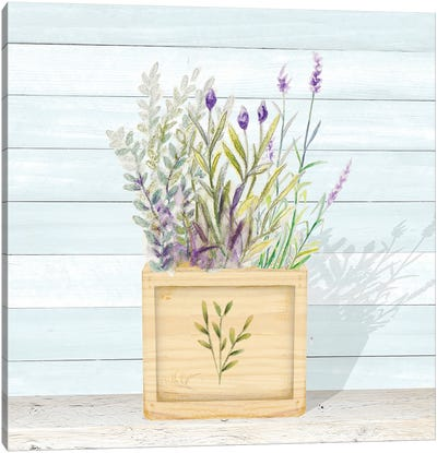 Lavender and Wood Square IV Canvas Art Print