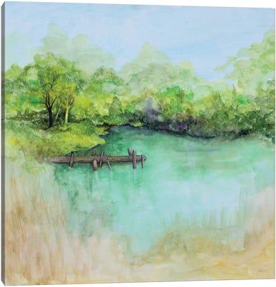 Watercolor River Canvas Art Print