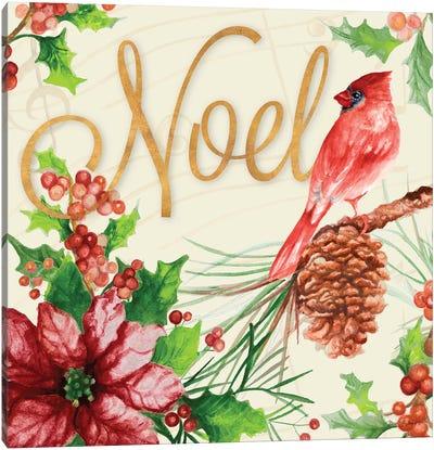 Bright Christmas Cardinal I Canvas Art Print