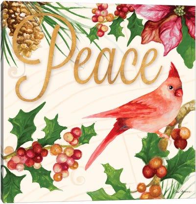 Bright Christmas Cardinal II Canvas Art Print