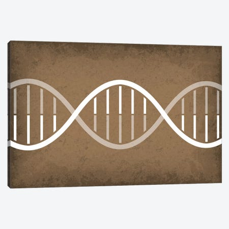 DNA Strand Canvas Print #GYO103} by GetYourNerdOn Art Print