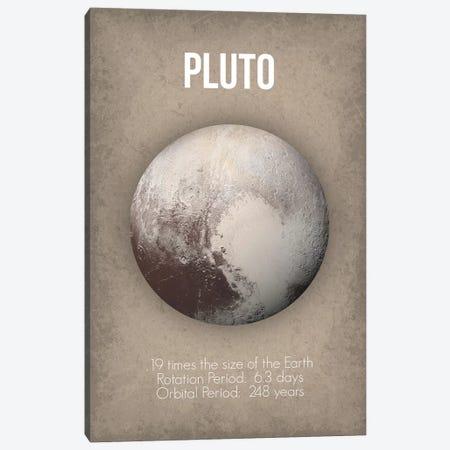 Pluto Canvas Print #GYO10} by GetYourNerdOn Canvas Artwork