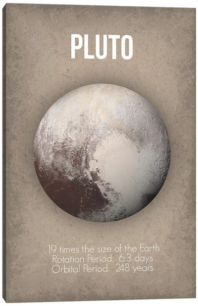 Pluto Canvas Art Print