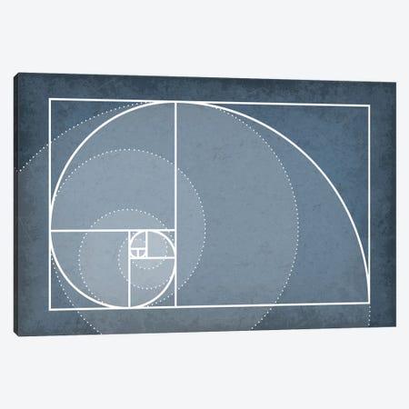 Fibonacci Sequence Spiral Canvas Print #GYO114} by GetYourNerdOn Canvas Print