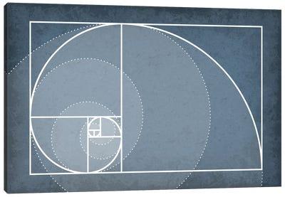 Fibonacci Sequence Spiral Canvas Art Print
