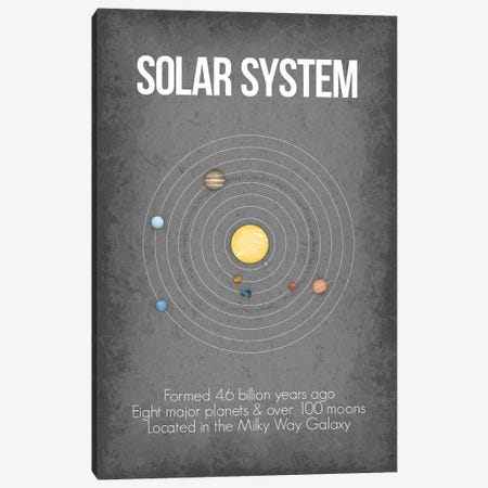 Solar System Canvas Print #GYO11} by GetYourNerdOn Canvas Artwork