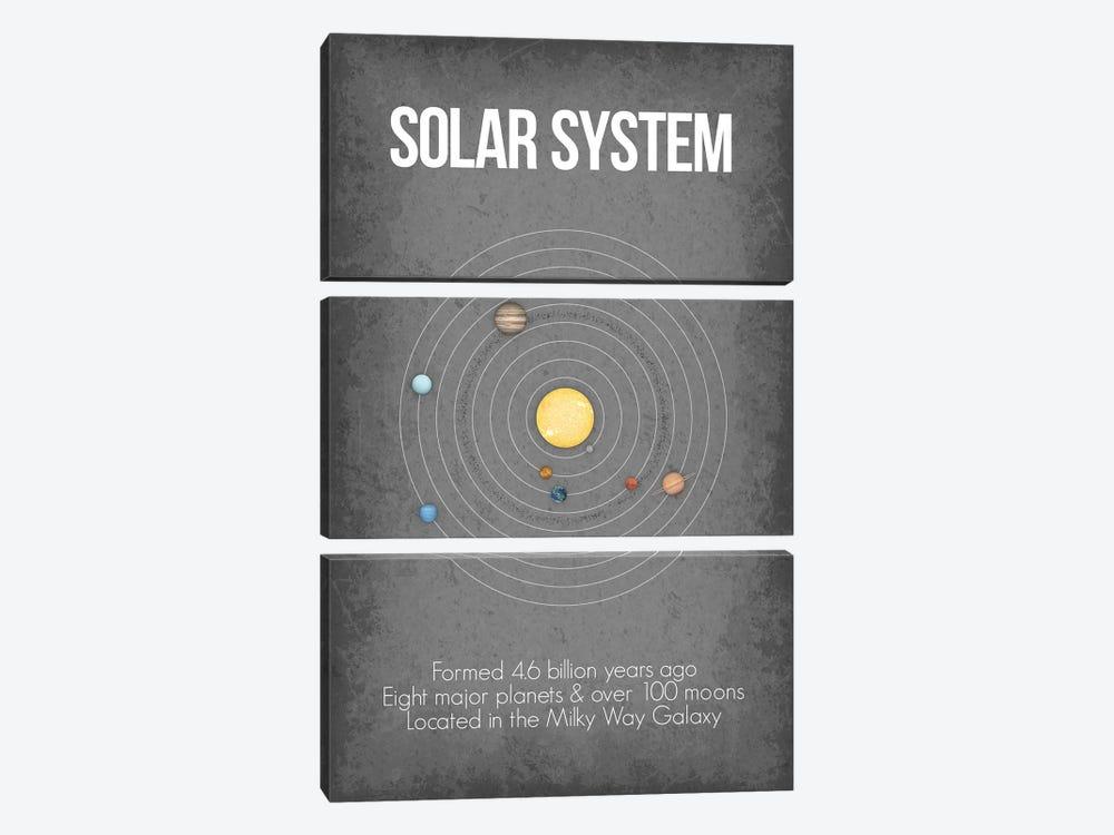 Solar System by GetYourNerdOn 3-piece Canvas Artwork