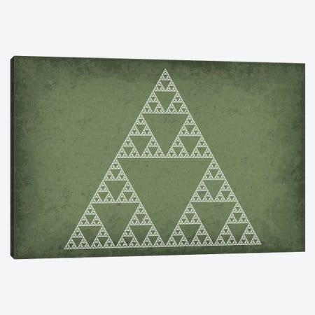 Sierpinski Triangle Fractal Canvas Print #GYO125} by GetYourNerdOn Canvas Art