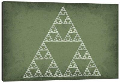 Sierpinski Triangle Fractal Canvas Art Print