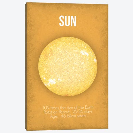 Sun Canvas Print #GYO12} by GetYourNerdOn Canvas Art