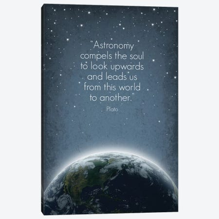 Plato Astronomy Quote Canvas Print #GYO130} by GetYourNerdOn Canvas Wall Art
